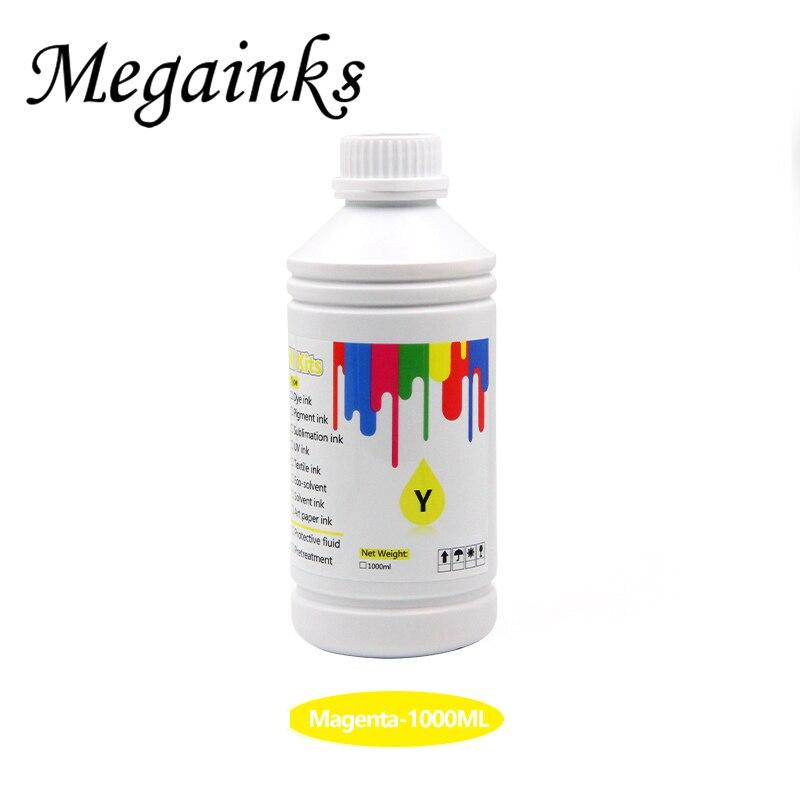 Megainks 500ML BK C M Y blanc par bouteille encre Textile numérique pour imprimante Epson couleur Sure F2000 F2100 F2130 F2140 F2150 F2160