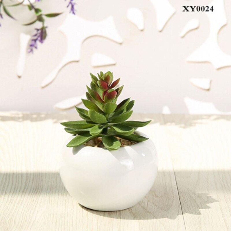 Artificial Mini Succulent Flower Floral Faux Potted Plants Foliage Garden Decors
