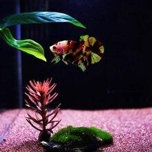 Betta рыбий лист кровать, Betta Завод лист колодки гамак игрушки зеленые растения с присоской, танк украшения тропической морской рыбы S