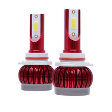 DHBH-1 Pair LED Car Light Bulbs 10000LM 72W Super Bright COB Auto Light Auto Led Head Light Car Styling Lamps 3000K Golden Yello(China)