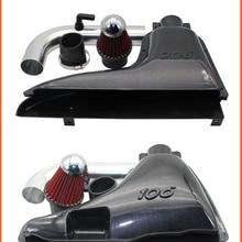 Автомобильные детали, автомобильный воздухозаборник с высоким потоком, Система впуска, воздушный фильтр для Peugeot 106 206 306 VTS, имитация углерод...