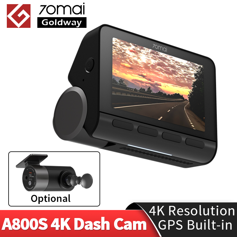 70mai 4K Dash Cam A800 A800S Gebaut-in GPS 4k Dual-Vision ADAS FCW System DVR 140FOV Echt UHD video Auto Kamera 70 Mai 4K A800 S
