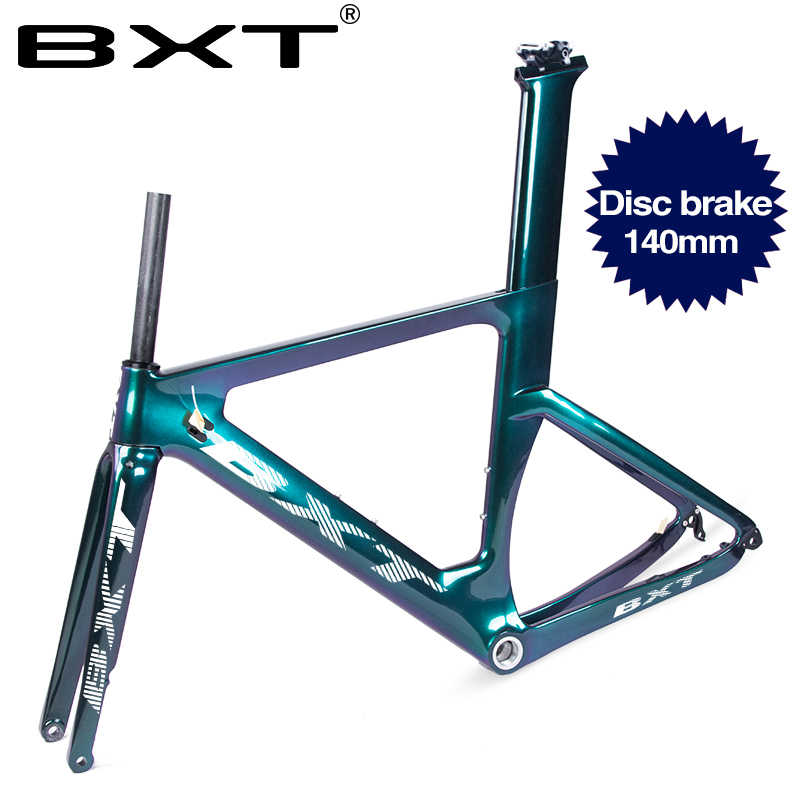BXT 2020 ใหม่ดิสก์ดิสก์เบรคคาร์บอนจักรยานกรอบ T800 คาร์บอนไฟเบอร์จักรยานเฟรมเรียวหัวจักรยานกรอบ