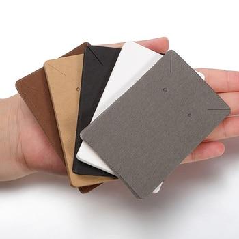 50 шт./лот серьги и ожерелья картонные витрины для упаковки сережек подвесная бирка карточка для ушей бумажные гвоздики для ювелирных издели...