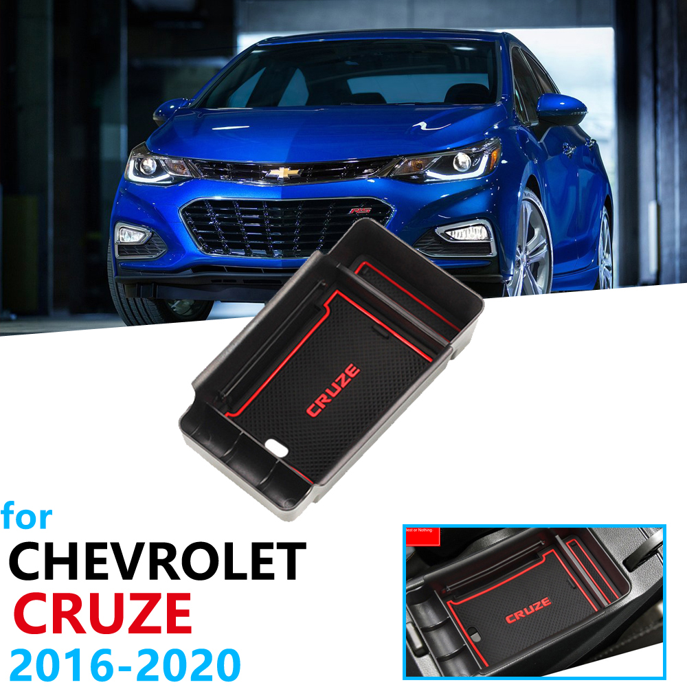 Car Organizer Accessories For  Chevrolet Cruze 2 MK2 2016 2017 2018 2019  Armrest Box Storage Stowing Tidying Coin Box Card Box