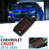 Samochód organizer akcesoria dla Chevrolet Cruze 2 MK2 2016 2017 2018 2019 podłokietnik ze schowkiem do przechowywania rozmieszczenie Tidying pudełko na monety pudełko kartonowe w Naklejki samochodowe od Samochody i motocykle na