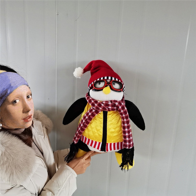 55cm Ernsthafte Freunde Joey der Freund Hugsy Plüsch Spielzeug PINGUIN Rachel Gefüllte Puppe Spielzeug für Kinder Kinder Geburtstag Weihnachten geschenk