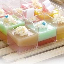 Mousse Cup Container Dessert Plastic Jelly-Yogurt Transparent with for Cover Cover