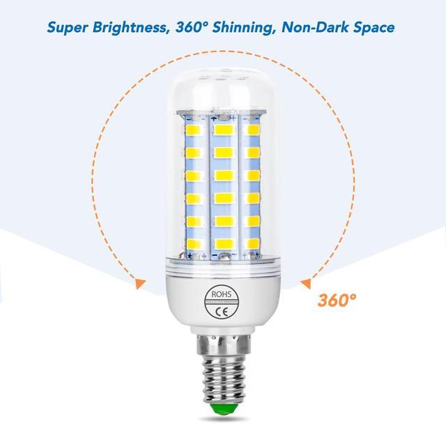 E27 Corn Bulb E14 LED Lamp 220V Energy Saving Light Home Lampadas Led B22 5730 Spotlight 3W 5W 7W 12W 15W 18W 20W 25W Chandelier|LED Bulbs & Tubes|   -