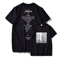 Taylor T Camicia Album di Folklore Tshirt Manica Corta Crew Collo Molle di Alta Qualità Premium 100% di T Del Cotone Magliette E Camicette