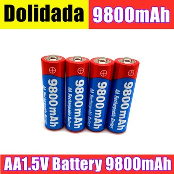AA rechargeable 1.5V 9800mah 1.5V New Alkaline Rechargeable batery for Suitable for electronic toys remote control car and so on image