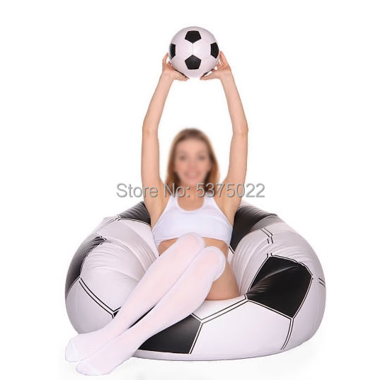 Inflatable Football Bean Bag Chair Soccer Ball Air Sofa Indoor Living Room PVC Lounger For Adult Kids Outdoor Lounge Armchair