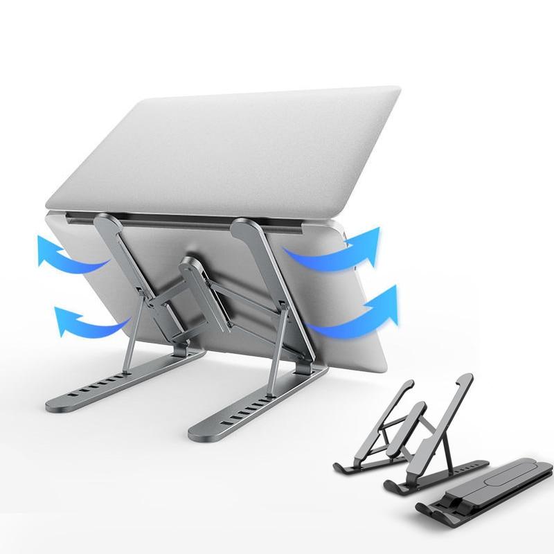 Складная подставка для ноутбука, портативный держатель для планшетного компьютера, охлаждающая подставка для Macbook Pro, аксессуары для подставки