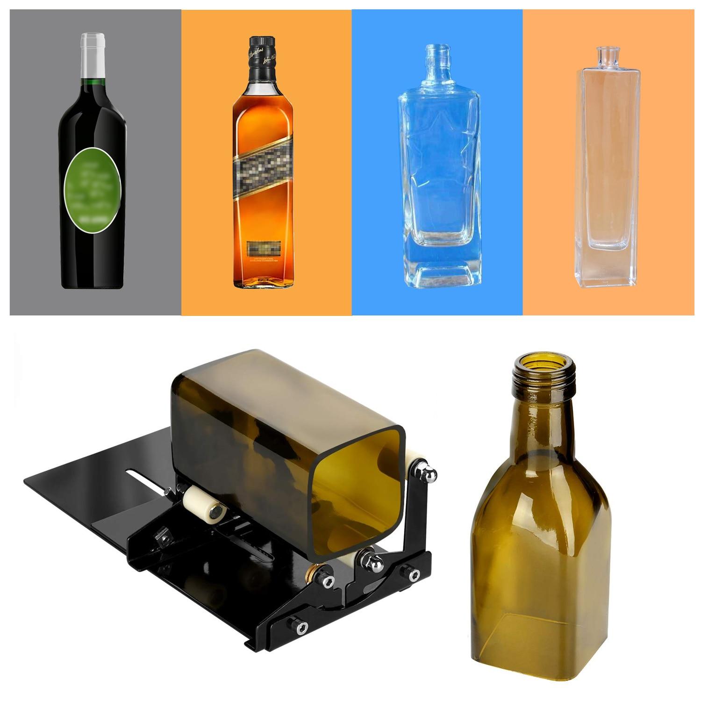 Квадратная и круглая стеклянная скульптура для вина, пива, резак для стеклянной бутылки, резак для DIY, машина для резки стекла