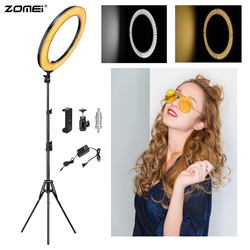 Zomei  LED Ring Light Selfie Photographic Lighting 18 Dimmable Camera Photo Studio Phone Light Lamp&Tripod Stand For Live Video