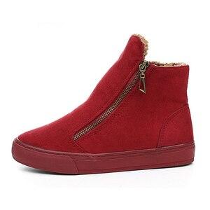 Image 2 - 2020 חורף שלג מגפי נשים חורף נעלי Zip חם קטיפה לחורף קר אופנה נשים של נשים מתוקות מגפי מותג קרסול Botas