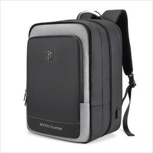 Image 1 - ArcticHunter Sale Laptop Backpack Men 17 inch Office Work Men Backpack Business Bag Unisex 10 inch iPad Backpack Thin Back Pack