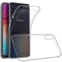 Casos De Silicone transparente Para Samsung Galaxy A10 A20 A20e A30 A40 A50 A60 A70 A80 A90 A51 A71 M40 Macio TPU Capa Protetora|Estojos encaixados| |  -