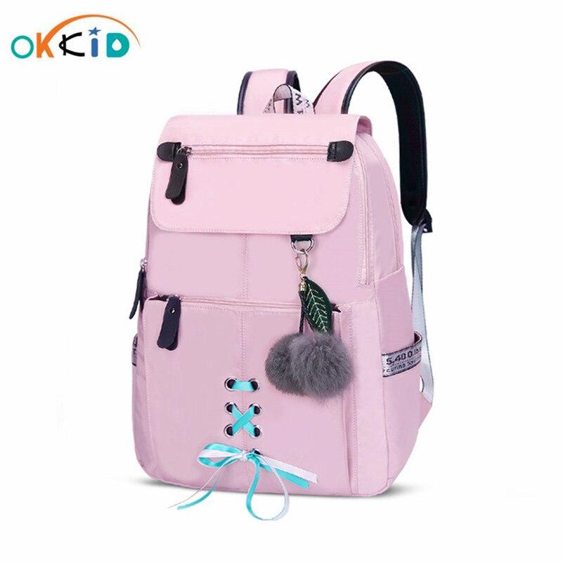 Children School Bags for Girls Backpack Children Baby Girl Cute Pink Schoolbag