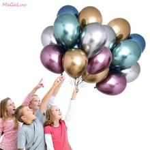5 шт. 18 дюймов надувные латексные воздушные шары с металлическим отливом толстый, хромированныей металлический баллон гелия для дня рождения Свадебная вечеринка Globos