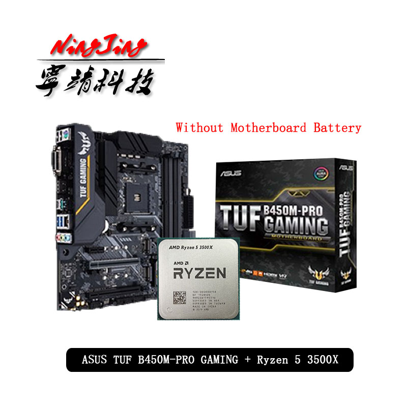 AMD Ryzen 5 3500X R5 3500X CPU + Asus TUF B450M PRO GAMING Motherboard Suit Socket AM4 CPU + Motherbaord Suit Without cooler|Motherboards| - AliExpress