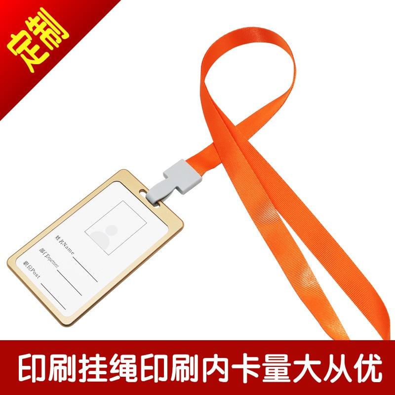 Aluminium Alloy Work Card Work Permit Badge Card Holder Badges Customizable Lanyard Employee Certificate Holder