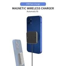 15w carregador sem fio original adequado para iphone 12pro ultra-rápido de carregamento mini usb c adaptador ultra-fino e portátil