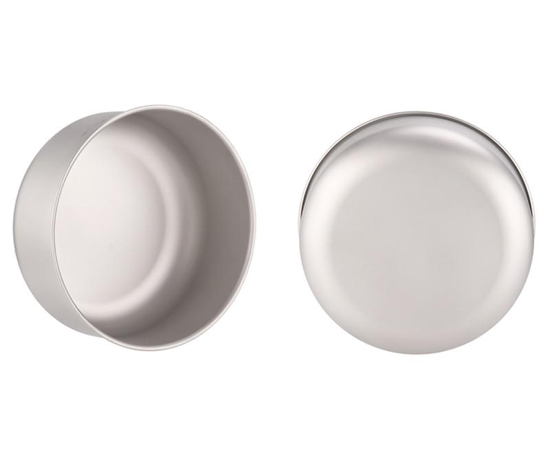 Titânio tigela de salada ultraleve saudável titânio