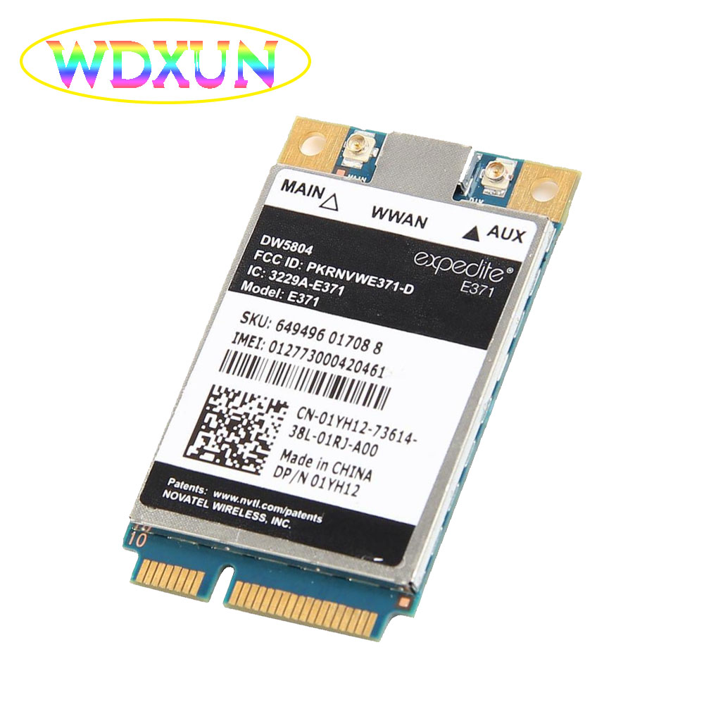 Dell Original Wireless Dw5804 4g Lte/wwan Mobile Broadband 01yh12 E371 Mini Pci-e 3g/4g Internal Modem High-speed Network Card