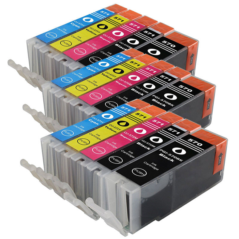 PGI-570 CLI-571 compatible ink cartridge For canon PIXMA MG5750 MG5751 MG5752 MG6851 MG6852 TS6050 <font><b>TS5050</b></font> 5051 Printer image