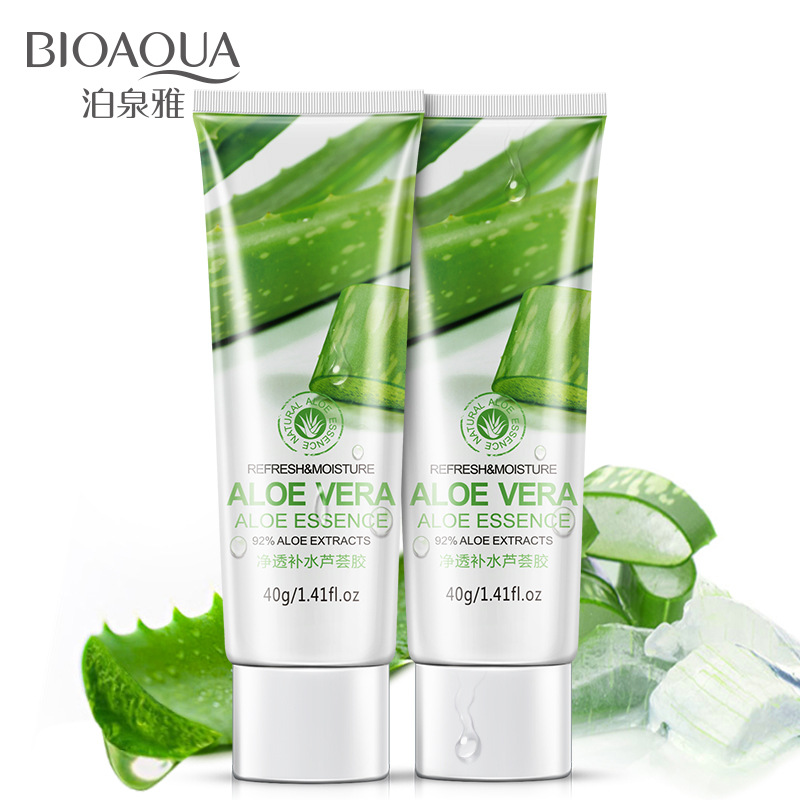 BIOAQUA Aloe Vera Gel Face Cream Hyaluronic Acid Anti Winkle Whitening Moisturizing Acne Treatment Cream Skin Care