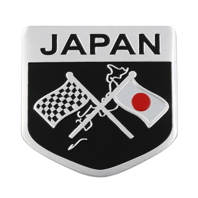 1pcs Car 3D Metal Styling Japanese Flag Sticker Emblem Badge Logo Decal For Toyota Honda Suzuki Nissan Mazda Subura Lexus
