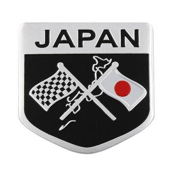 цена на 1pcs Car 3D Metal Styling Japanese Flag Sticker Emblem Badge Logo Decal For Toyota Honda Suzuki Nissan Mazda Subura Lexus