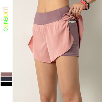Women Gym Double Shorts Side Pocket 1