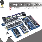 TM1638 Module TM1637 4 Key Display For AVR Arduino MAX7219 Digital LED Tube 8-Bit 74HC595