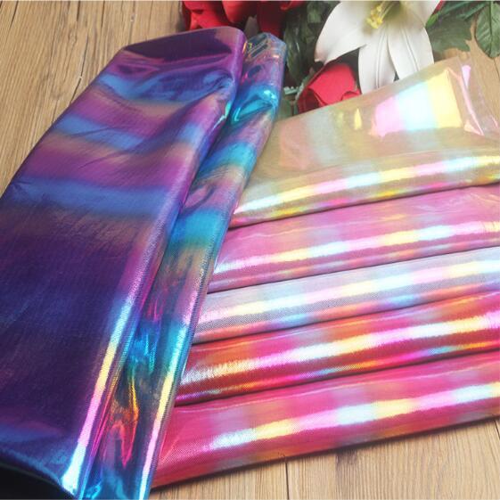 150cm 6style Laser Sparkling Pink Fantasy Gold Stamping Stage Background Fabrics Decorative Wedding Diy Textiles Fabric C714