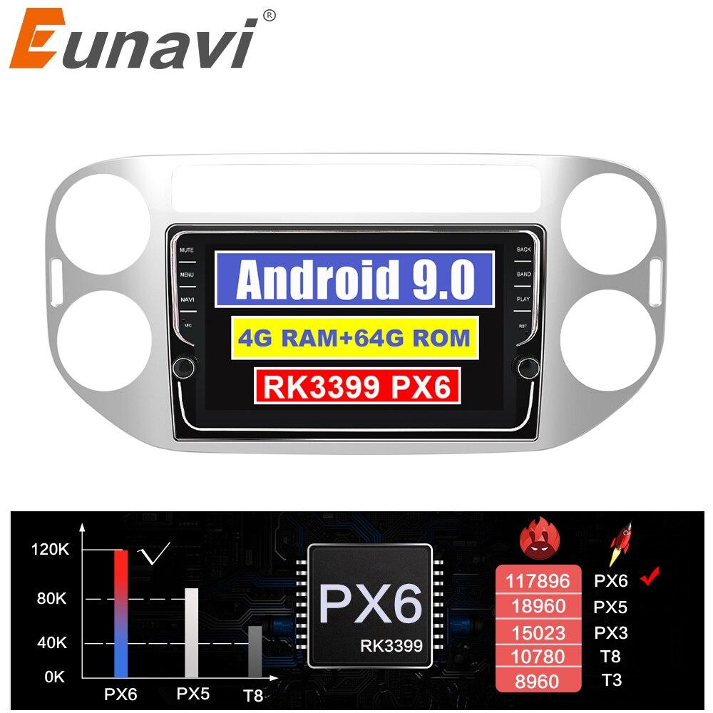 Eunavi Штатная магнитола андроид системный блок автомагнитола для Фольксваген Тигуан Volkswagen Tiguan 2010-2015 магнитола 2din с навигацией 2 din мультимеди...