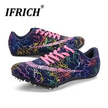 Шипы спортивная обувь для мужчин, женщин, детей, гоночные кроссовки, спортивная обувь, легкие шипы, кроссовки для мальчиков и девочек