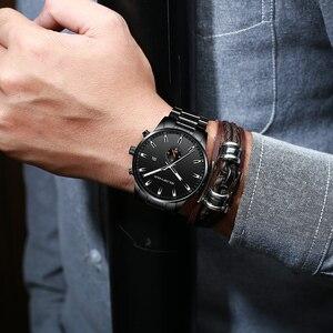 Image 5 - Часы наручные GOLDENHOUR Мужские кварцевые, роскошные брендовые деловые водонепроницаемые Модные