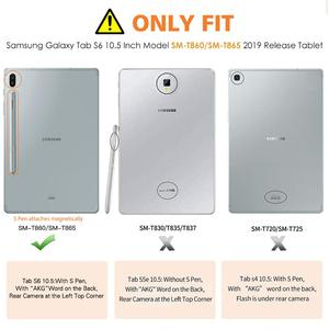 Image 2 - Чехол для Samsung Galaxy Tab S6 10,5 2019, ультратонкий тройной складной чехол подставка с матовой задней стенкой и функцией автоматического пробуждения и сна