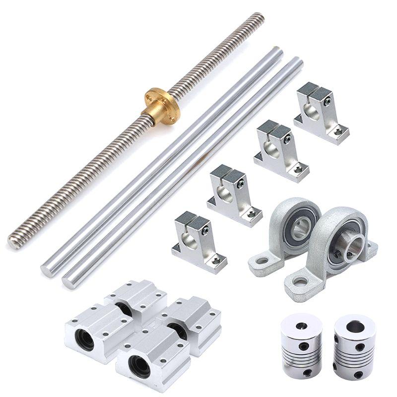 Optical Axis Guide Bearing Housings Aluminum Rail Shaft Lead Screw Rod Slide Bushing Shaft Coupling