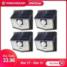 Mpow 30 LED 태양 빛 야외 PIR 모션 센서 조명 2/4 팩 19.5% 고효율 태양 전지 패널 270 넓은 조명 각도