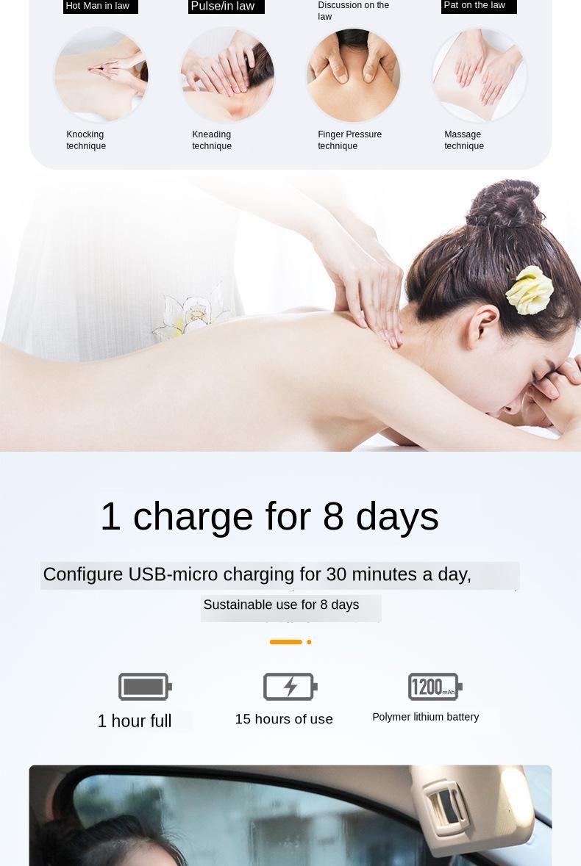 pescoço massageador dezenas alívio da dor ferramenta