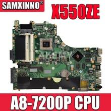 X550ZE con scheda madre CPU A8-7200P per ASUS VM590Z A555Z X555Z X550ZE X550ZA X550Z X550 K550Z K555Z Test della scheda madre del computer portatile 100%