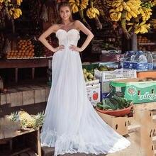 Шифоновое свадебное платье в стиле бохо без рукавов