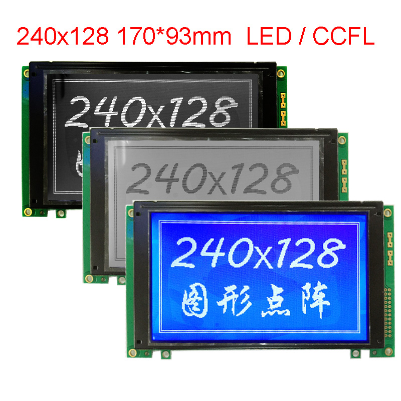 WG240128A 240x128 Lcd Display Module NHD-240128WG-ATFH-VZ# 240128 Big Large Size T6963C 170*93.4 22pin