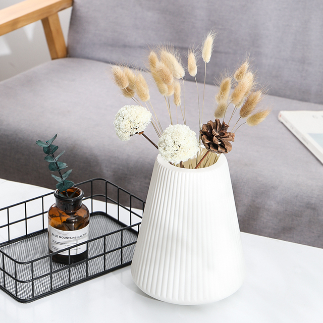 Anti-ceramic Vase European-style Home Decorations Plastic Vase Shatter-resistant Wedding Decoration Dried Flowers Real Flowers 5