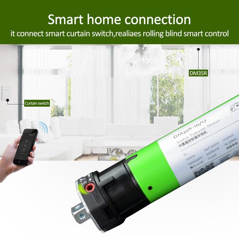 Dooya Smart Home Wifi Smart Curtain Motor Electric Curtain Track 50mm Toprail Electric Curtain Built-In Motor Smart Home System