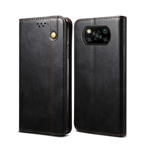 Image 2 - Luxury Glossy Leather Flip Case For Xiaomi POCO X3 Pro Case Magnetic Wallet Card Holder Flip Cover For POCO F3 Capa