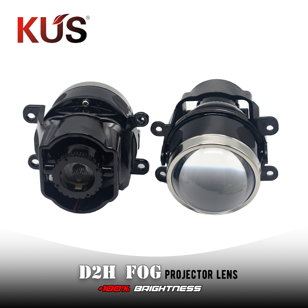 3.0inch HID Bi Xenon Projector Lens D2H Fog Light Bracket For Ford Toyota Ford Mazada Mitsubishi Subar Car Fog Lamp Hid Retrofit